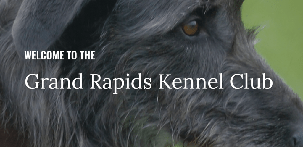 Grand Rapids Kennel Club website header