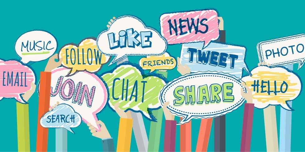 illustration using social media terminology