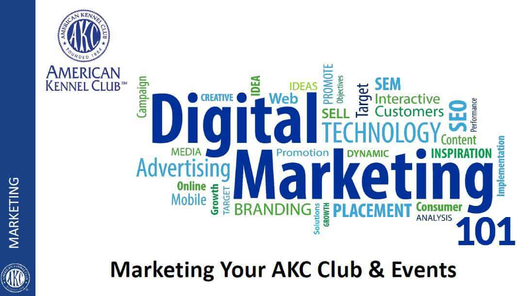AKC digital markering 101 title slide